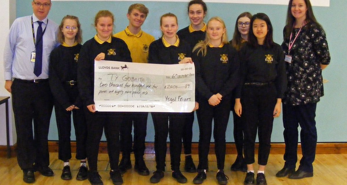 Ysgol Friars Pupils Raise Money for Ty Gobaith/Hope House