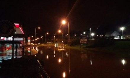 Heavy rain and flooding causes traffic and rail problems in Bangor