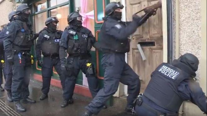 North Wales Police in biggest drugs raid for twenty years