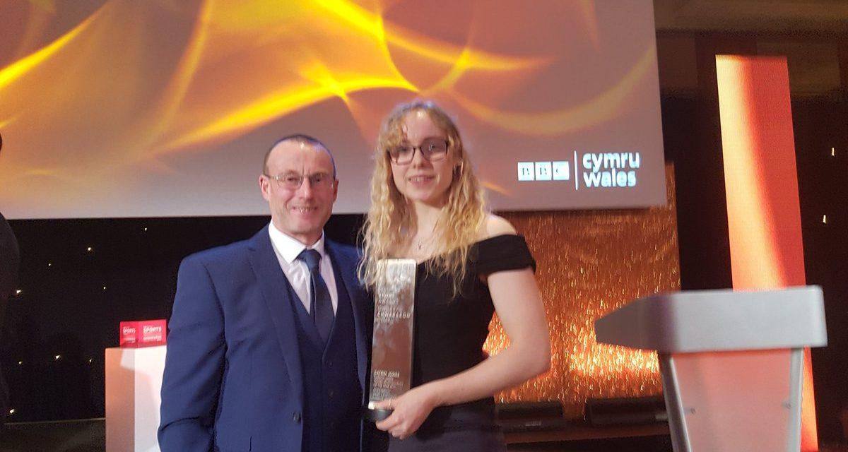 Catrin Jones from Bangor wins Young Sportswoman of the Year Award
