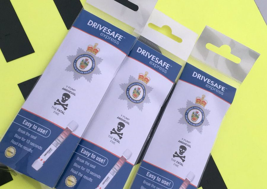 North Wales Police offer free disposable breath test kits