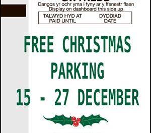 Free 'Festive' Parking boost for Gwynedd Car Parks