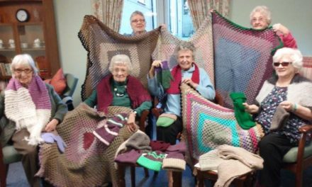 Kind hearted elderly residents have been knitting for Bangor homeless