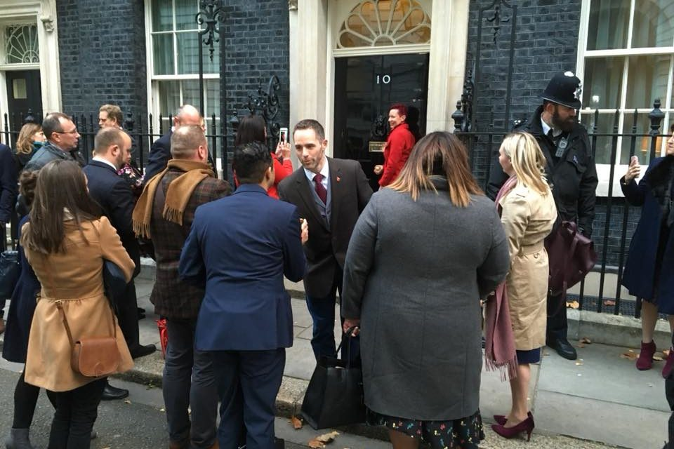 Wild Elements from Bangor visit Downing Street for small businesses of the year reception