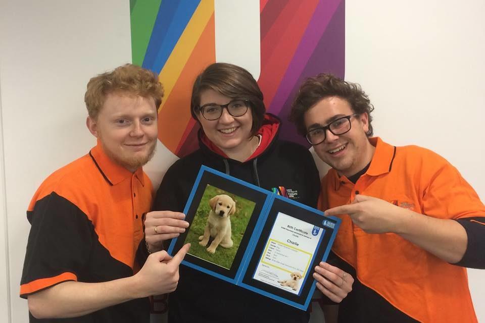 Bangor RAG sponsor guide dog in memory of Bangor University Student