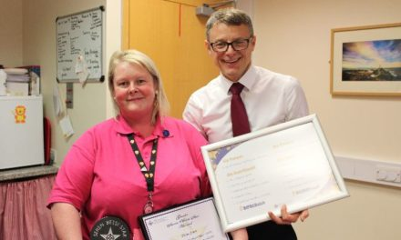 Ysbyty Gwynedd dementia support worker recognised for 'going the extra mile'