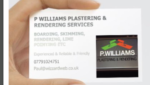 P WILLIAMS PLASTERING AND RENDERING SERVICES