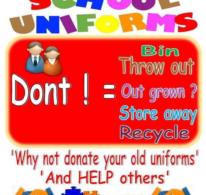 Donate old School Uniforms to help others in Bangor
