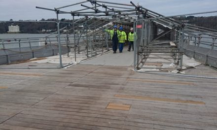 Latest photos of Bangor Pier restoration work