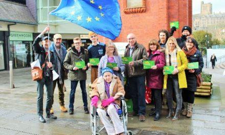 Plaid Cymru launch nationwide petition in Bangor to safeguard European citizenship