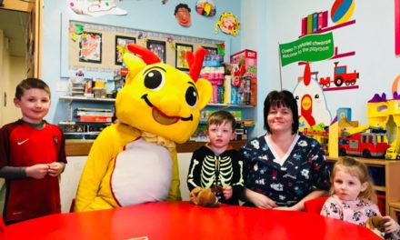 Youngsters on Ysbyty Gwynedd's Children's Ward celebrate Welsh Language Week