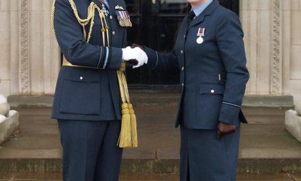 Former Ysgol Friars pupils surprised to meet up at RAF graduation