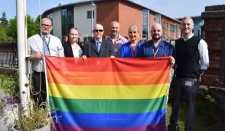 Betsi Cadwaladr University Health Board show support for the LGBT community