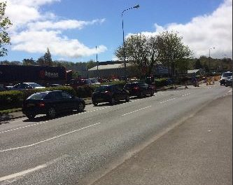 Caernarfon Road delays expected for up to three weeks
