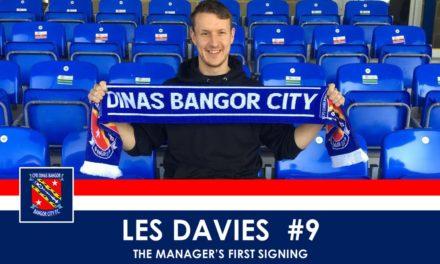 Les Davies re-joins Bangor City