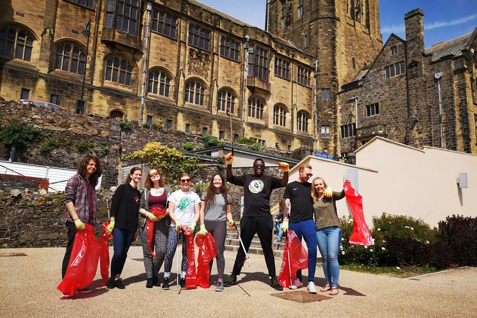 Bangor students go 'PLOGGING' to exercise while helping the environment