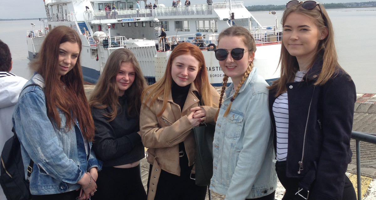 Coleg Menai's Travel & Tourism Students French Connection