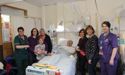 Ysbyty Gwynedd nursing staff raise funds to help battle cancer