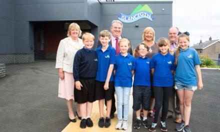 Celebrating one year at Ysgol Glancegin's new school