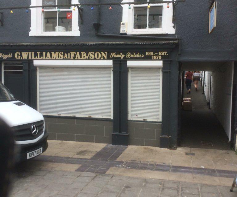 Johnny 6 Butchers on Bangor High Street has closed