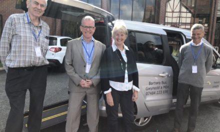 'Barbara Bus Gwynedd' launches charity bus for wheelchair users in Bangor