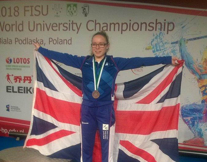 Catrin Jones wins a Bronze medal at World University Championships