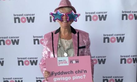 Siân Gwenllian 'Wears it Pink' for Breast Cancer research