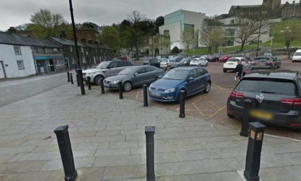 Commuters using free Christmas parking spaces