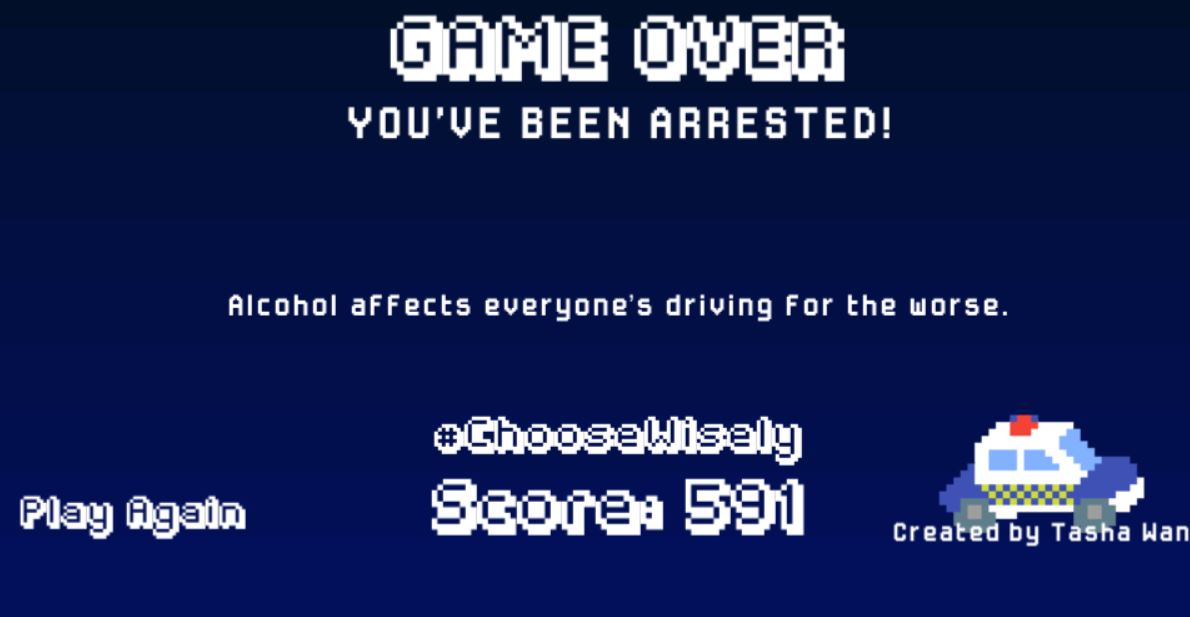 North Wales Police launch 'drink driving' safety game