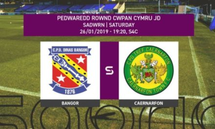 Bangor City v Caernarfon Town to be shown live on S4C