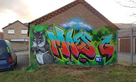 Graffiti artwork transforms Maesgeirchen garages