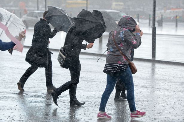 A month's worth of rain could fall in 24hrs on Thursday