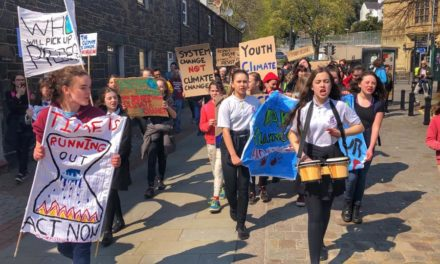 Youngsters take to Bangor's streets in Climate change protest