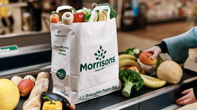 Morrisons launch paper shopping bags to reduce plastic waste