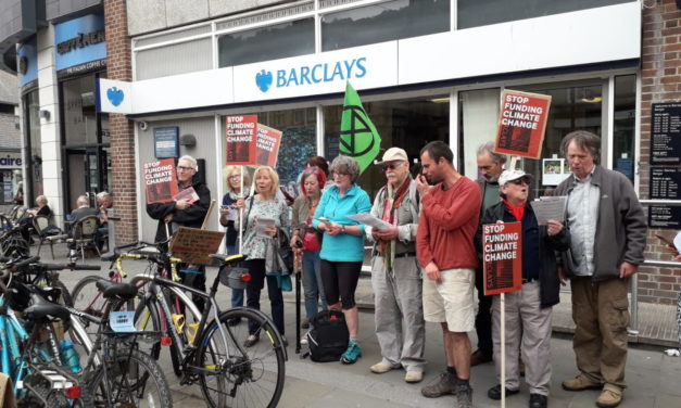 Environmentalists target Barclays bank over fossil fuel investments