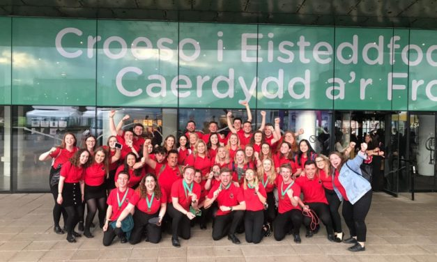 Best day ever for Aelwyd JMJ at the Urdd National Eisteddfod