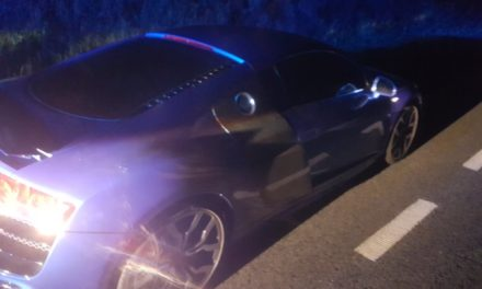 High speed pursuit ends when Audi R8 sports car runs out of fuel