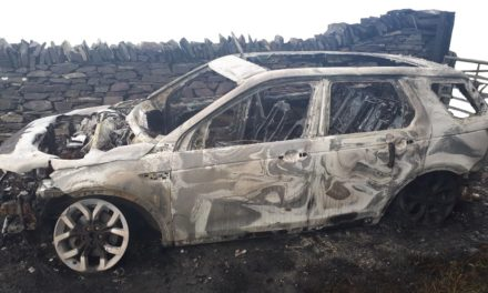 Police Appeal after Land Rover Discovery burnt out near Bangor