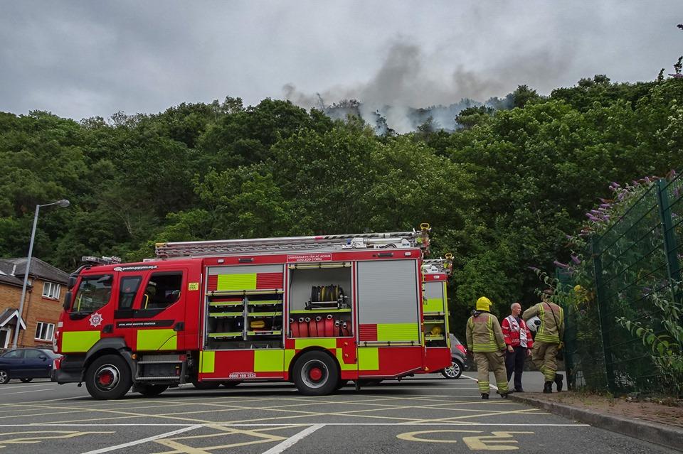 Three fire crews tackle Bangor mountain blaze