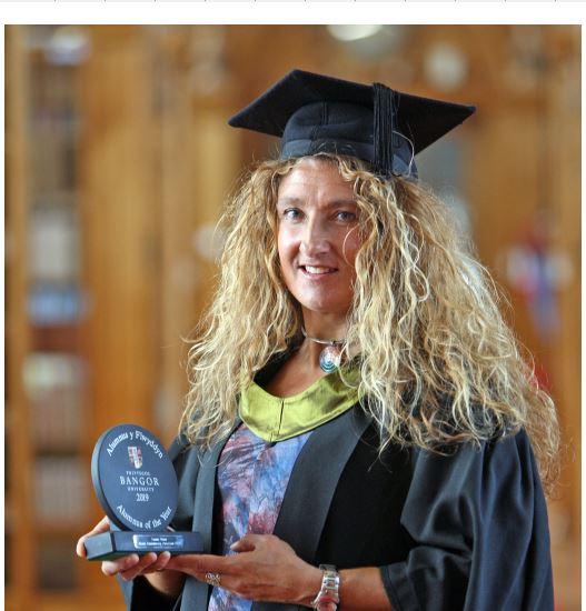 Anglesey Sea Zoo owner Frankie Hobro named as Bangor University Alumnus of the Year