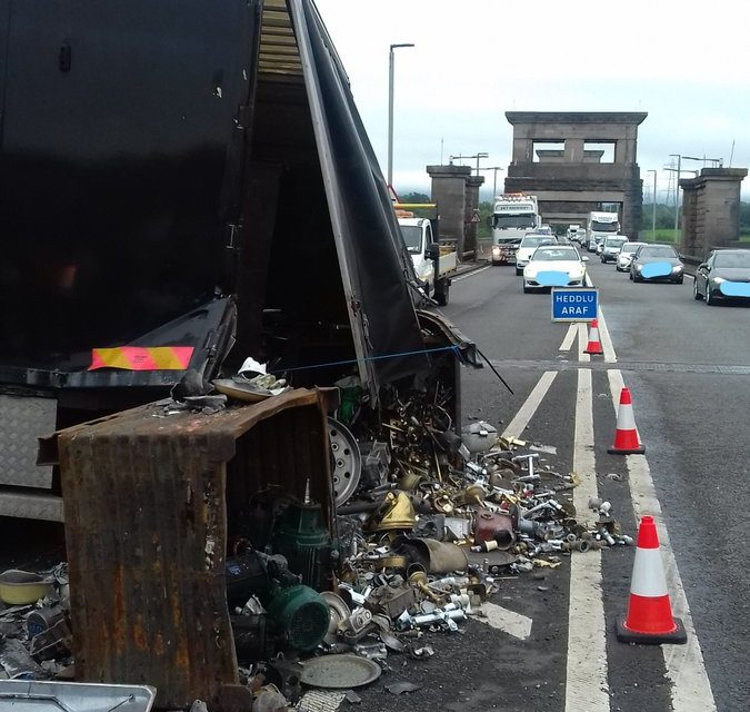 Police appeal after Britannia Bridge collision