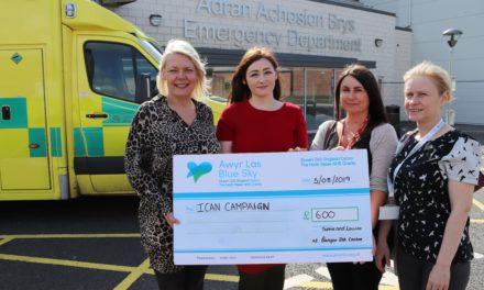 Bangor colleagues raise £600 for Ysbyty Gwynedd ICAN centre