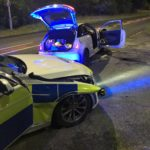 Police car damaged in high speed A55 pursuit near Bangor