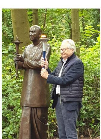Peace Statue unveiled at Treborth Botanic Garden