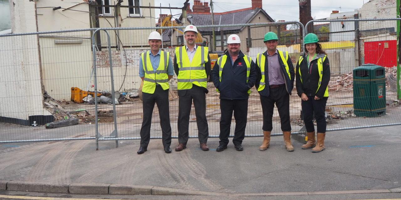 Building work underway on 17 new flats in Bangor