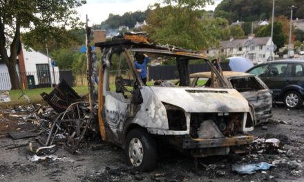 Motorhome and car destroyed in late night Beach Road fire