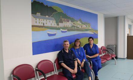 Local artist brightens up the Emergency Department at Ysbyty Gwynedd