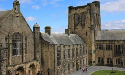 Doors open to Bangor University's Main Arts Building