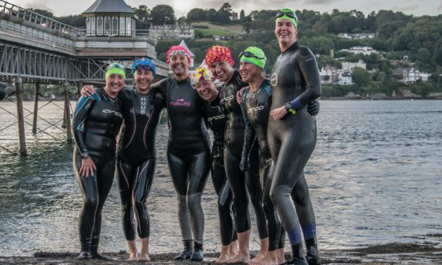 Swimmers complete Pier to Pier challenge for #TeamIrfon