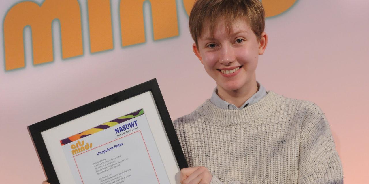 Bangor pupil wins national Arts & Minds competition